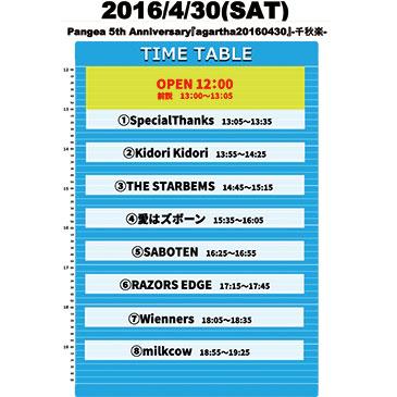Pangea 5th Anniversary Special『agartha20160430』-千秋楽-